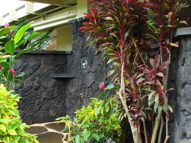 Lava Rock Shower   2 Perfect Construction, Inc.